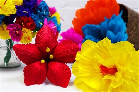 How To Make A Mexican Flower Out Of Tissue Paper - mexican supplies at amols supplies