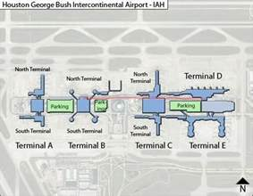 iah houston intercontinental airport terminal maps
