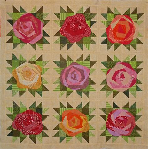 Roses Quilt Pattern by S Big Quilting Adventure Jersey Scrap