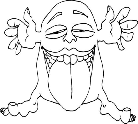 monsters in coloring pages free silly monster coloring pages