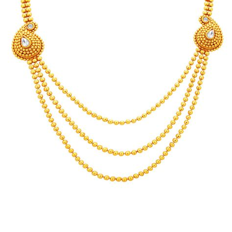 Three String Choker buy fabulous three string gold plated necklace set for