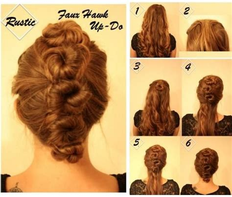 Homecoming Hairstyles For Medium Hair Tutorial by Updo Hairstyles For Homecoming Faux Hawk Updos Tutorial