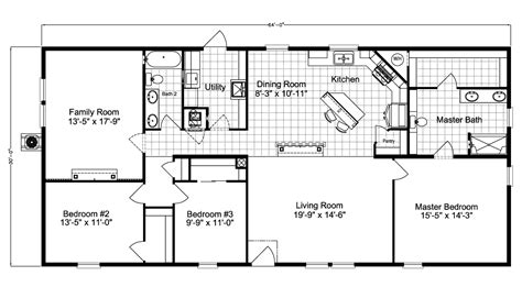 floorplan or floor plan barbados ls30643a manufactured home floor plan or modular floor plans