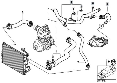 bmw e46 cooling system diagram original parts for e46 330d m57 touring engine cooling
