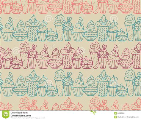 cute pattern set cute dessert seamless pattern set vector illustration