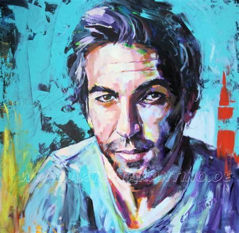 portrait auf leinwand portraits acrylmalerei aquarelle 214 lbilder wandmalerei