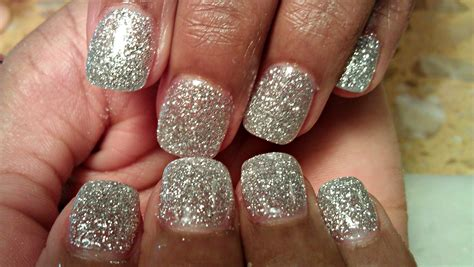 Silber Nägel by How To Silver Glitter Color Acrylic Nails Tutorials