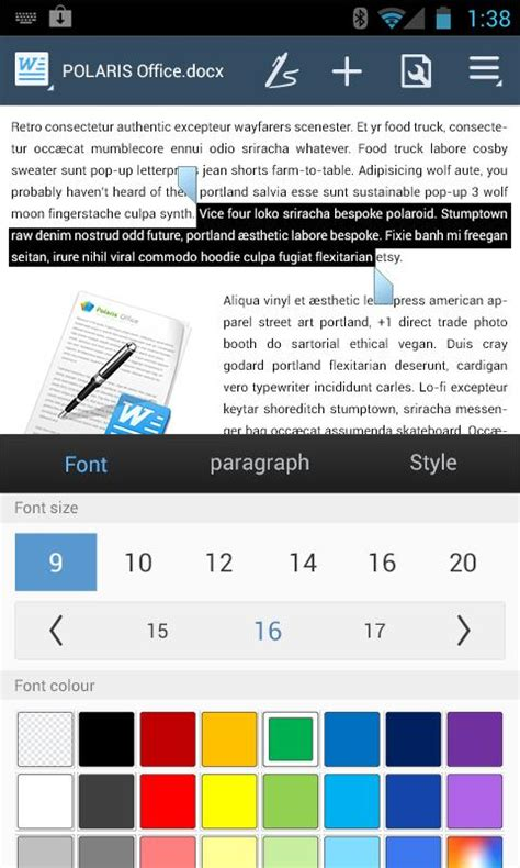 polaris office 5 android polaris office 5 for htc android apps on play
