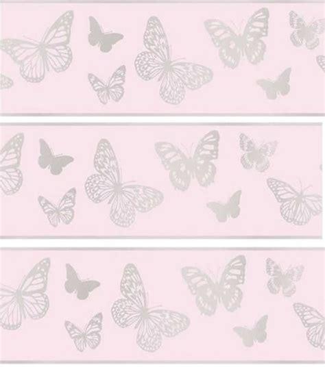 glitter wallpaper border uk glitter glitz pink sparkle butterfly wallpaper border
