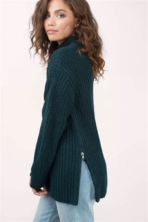 Sweater Rajut Pria Mock Turtleneck Green 1 green sweater teal sweater green sweater 29 tobi us