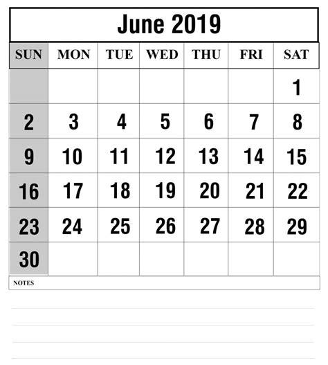 blank june  calendar printable   word excel