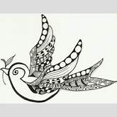 Little Bird Zentangle - YouTube