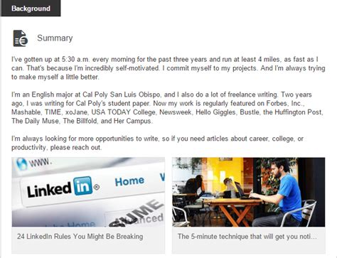 Mba Student Linkedin Profile by Image Gallery Linkedin Background Summary Exles