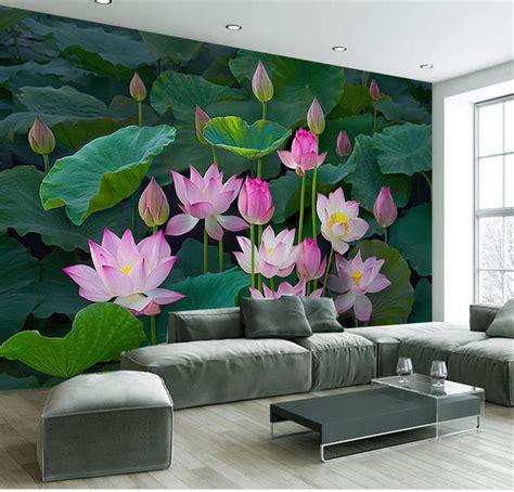 wallpaper flower murals custom 3d photo wallpaper living room mural lotus flower