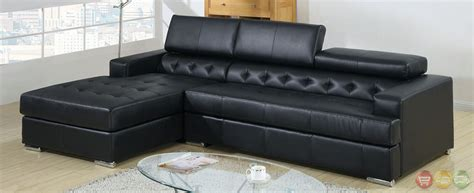 Black Leather Sofa Set Price Floria Modern Black Sectional Sofa Set With Pneumatic Gas