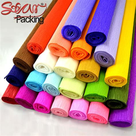 Wrap Packing Tambahan T1910 3 roll up hem crepe paper prontpage flower wrapping paper flowers bouquet curling