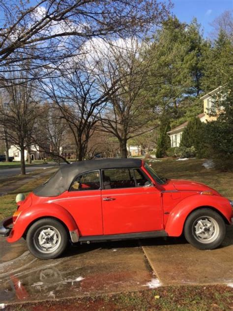 volkswagen convertible bug volkswagen convertible beetle bug 1974 for sale