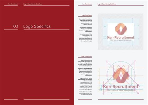 14 page logo and brand identity guidelines template for