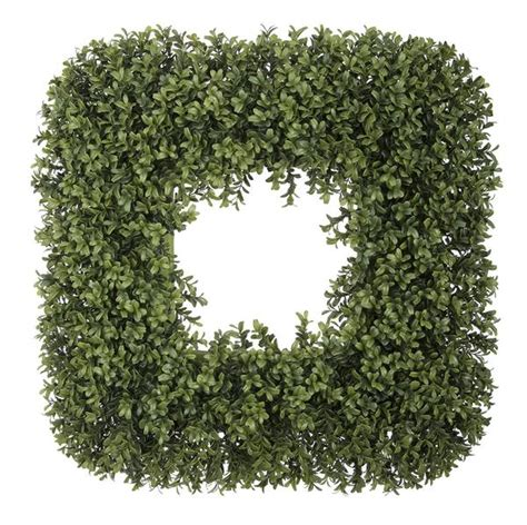 10 inch artificial boxwood wreaths artificial boxwood square wreath house of silk flowers 174