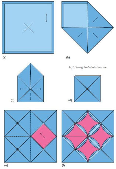 How To Make Cathedral Window Patchwork - 17 best ideas about cathedral windows on