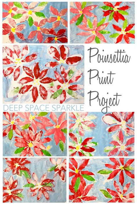 christmas art projects in austrailia poinsettia print project space sparkle bloglovin