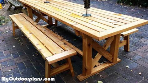 diy outdoor trestle table myoutdoorplans