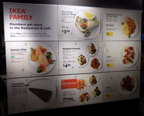 Menu Ikea menu for cafe picture of ikea covina covina tripadvisor