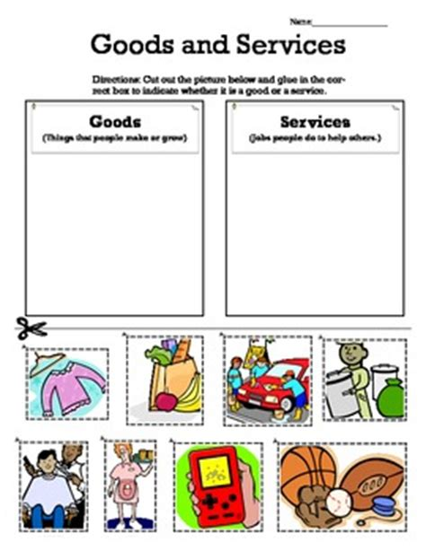 Goods And Services Worksheets by Worksheets Goods And Services Worksheets Opossumsoft
