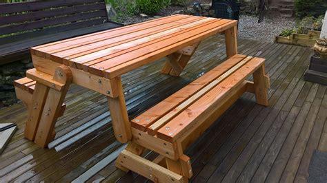 Banc Table by J Ai Construit Un Banc Transformable En Table De Pique