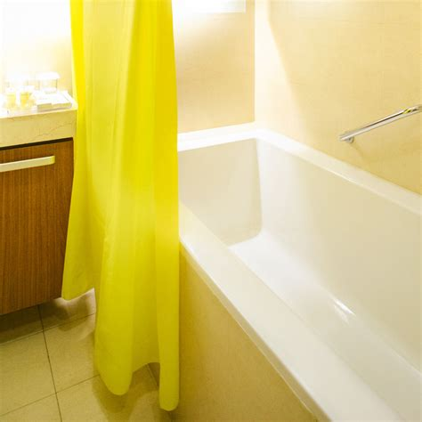 modern great solid design yellow shower curtain