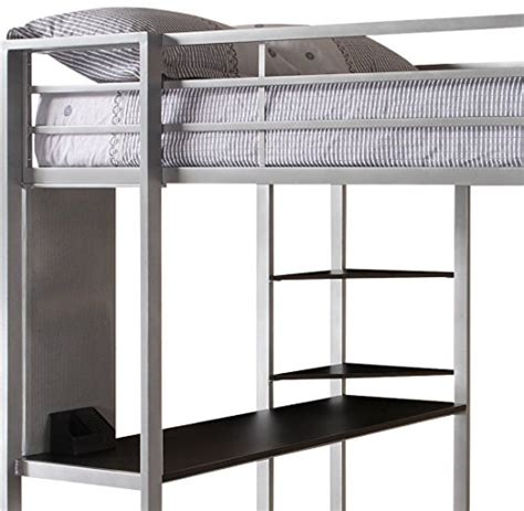 loft bed accessories dorel home products abode full size loft bed silver