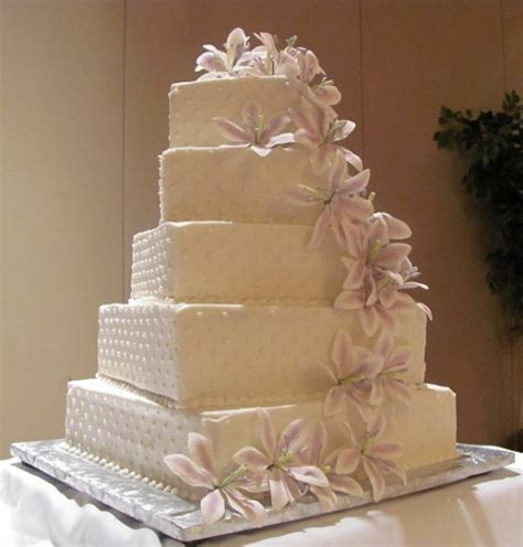 square wedding cake gallery simple square white wedding cake