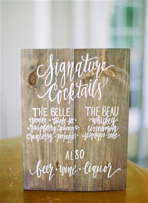 25 best ideas about wedding signature drinks on pinterest