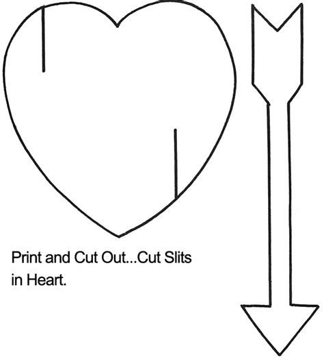 Heart With Arrow Template Heart Crafts Pinterest Printable Arrow Template