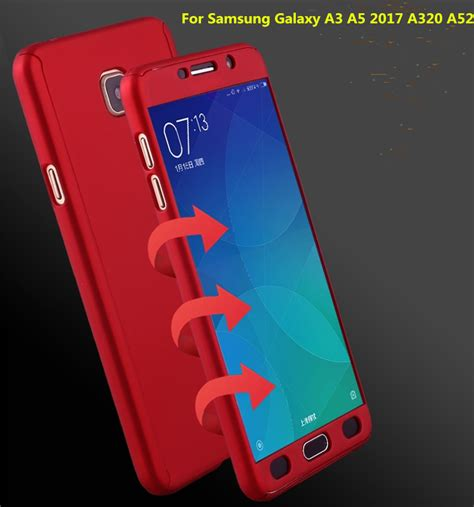 Samsung A3 2017 Hardcase 360 Casing Protect New for samsung a5 2017 a520 360 degree cover luxury pc protective back for samsung