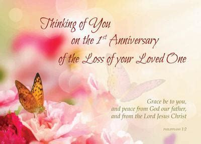 52232A First 1st Anniversary of Loved Ones Death
