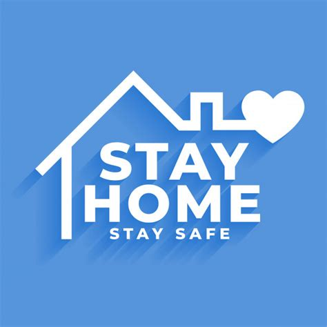 vector stay home  stay safe concept poster design
