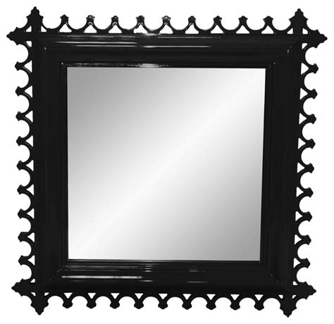 black decorative wall mirror newport decorative mirror square tricorn black
