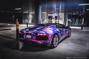 Lamborghini Career Galaxy Themed Lamborghini Aventador Roadster From Canada