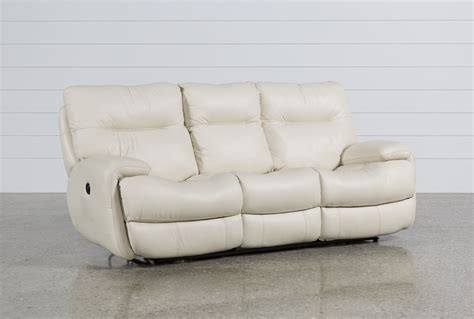 Oliver Ivory Power Reclining Sofa Living Spaces