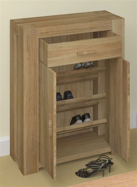 shoe furniture storage grand solid chunky oak hallway furniture shoe storage