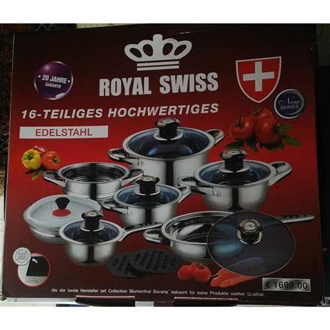 batterie de cuisine swiss line batterie de cuisine royal suisse