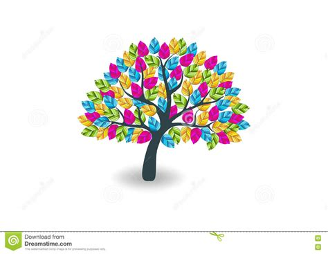 colorful tree colorful tree logo www pixshark images galleries