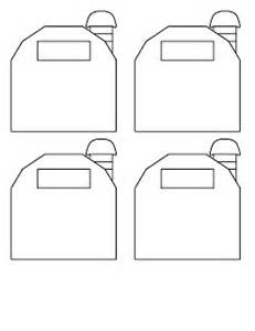 barn template bigfoot pickle s craft ideas small templates