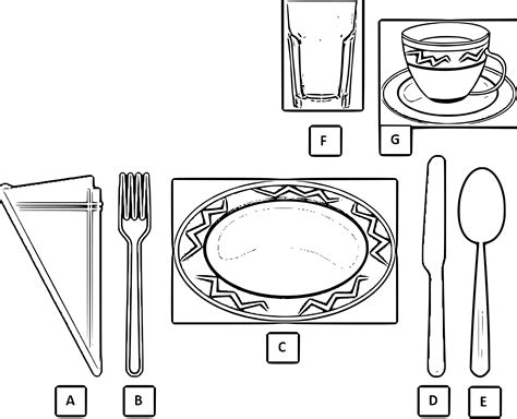 basic table setting clipart basic table setting