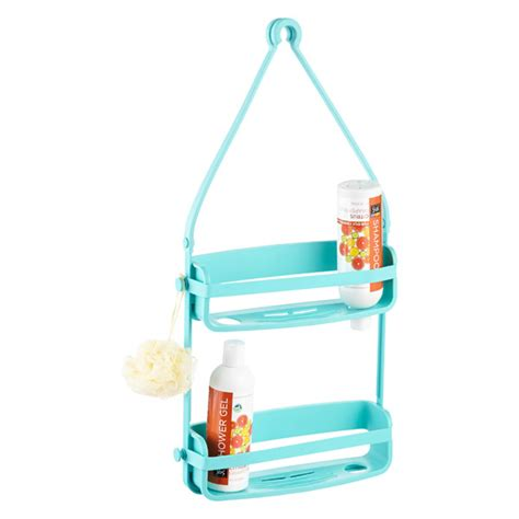 umbra bathtub caddy umbra teal flex shower caddy the container store