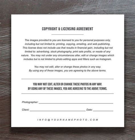 copyright contract template print release templates photo marketing copyright