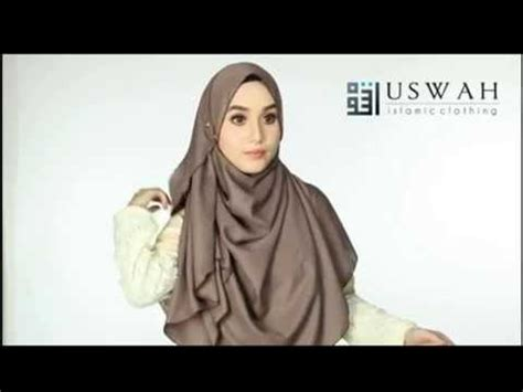 tutorial pashmina labuh tutorial shawl labuh adwa by uswah youtube