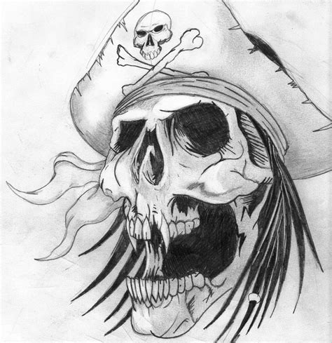 pirate skull by twizted thomas on deviantart