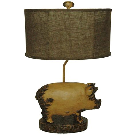 whole hog lighting desk pig table l from crestview collection 227792